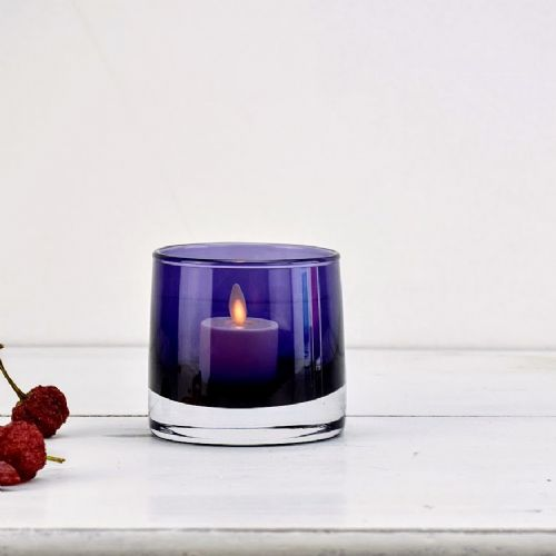 Tea Light Holder Purple